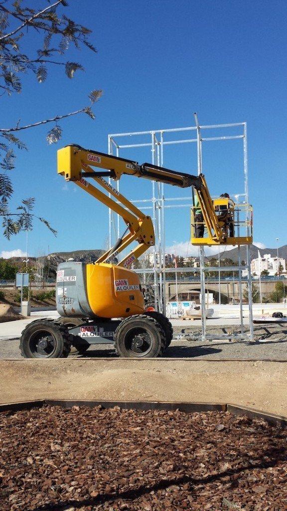 construccion rocodromo skatepark malaga