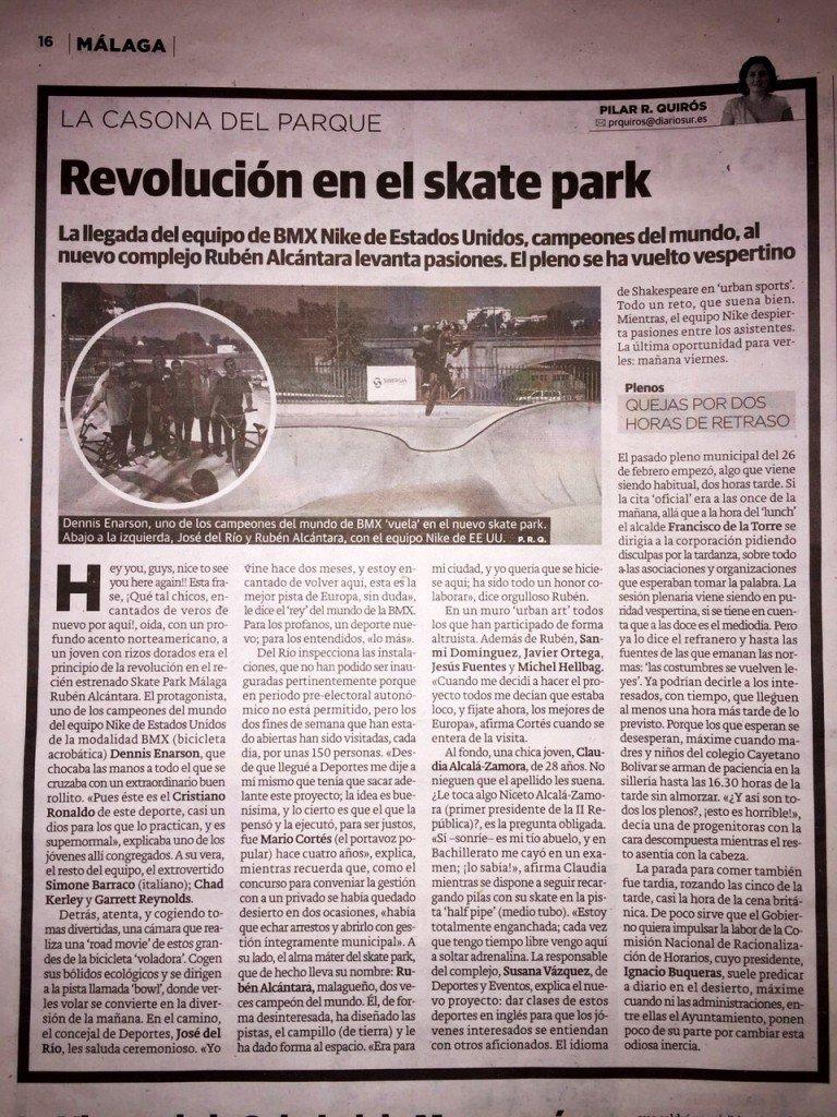 articulo diario sur malaga skatepark