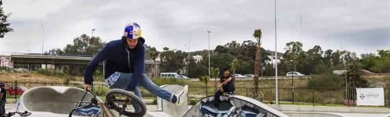 Mattias Dandois en el Skatepark Málaga
