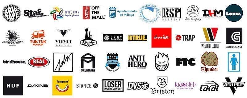 griptape skateboard contest malaga logos