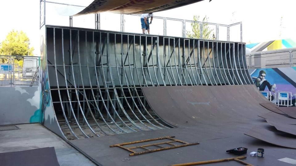 sustitucion maderas rampas skatepark malaga