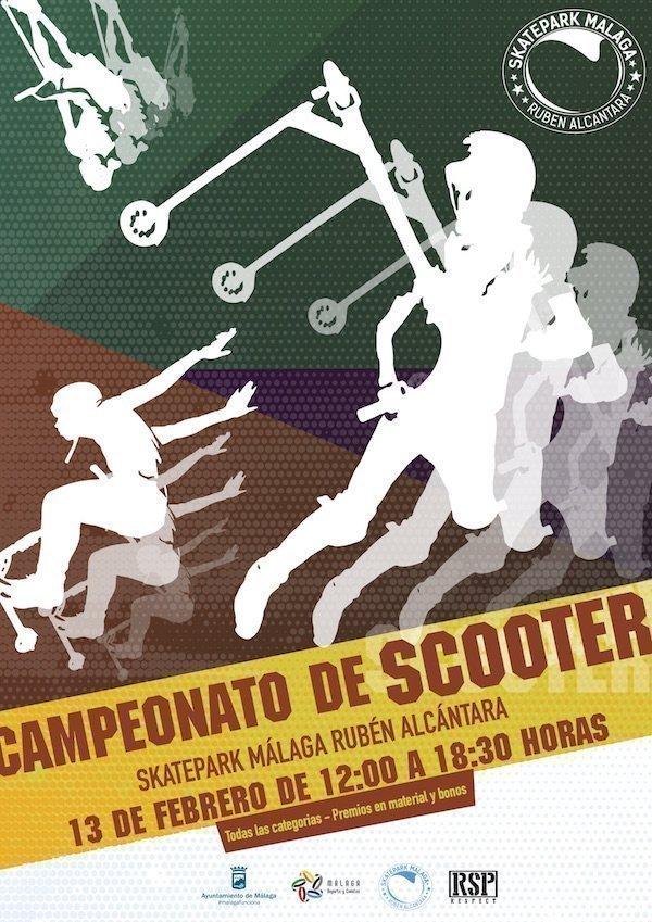 cartel campeonato scooter malaga